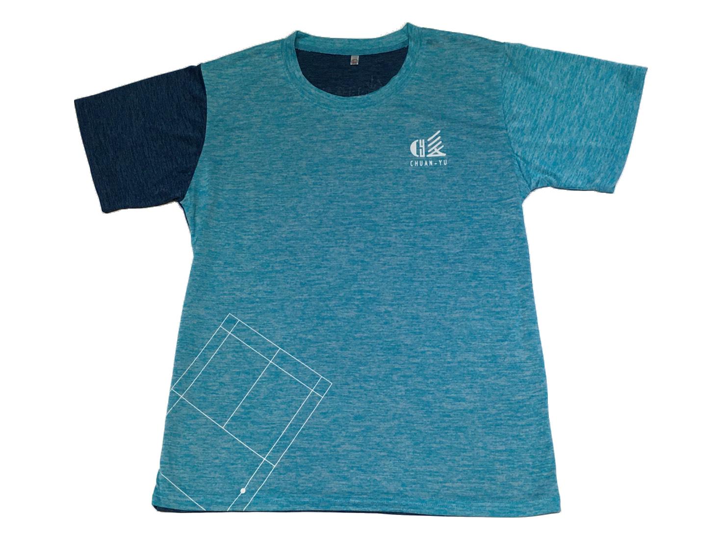 傳羽短袖球衣(前後藍)